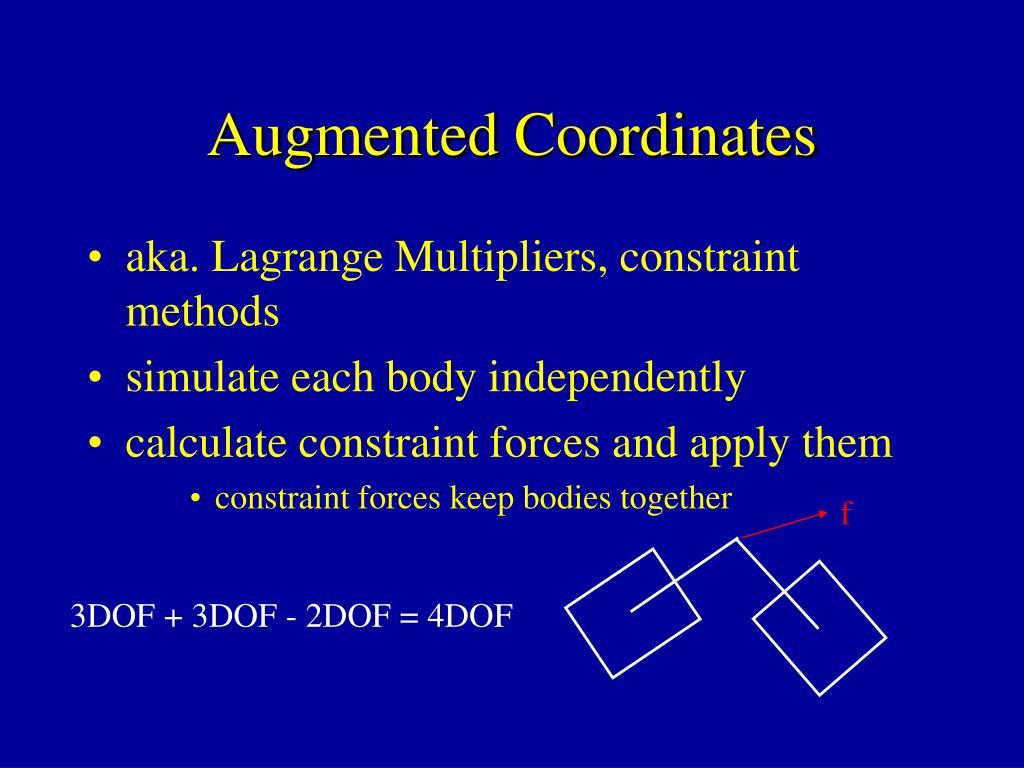 Augmented Coordinates