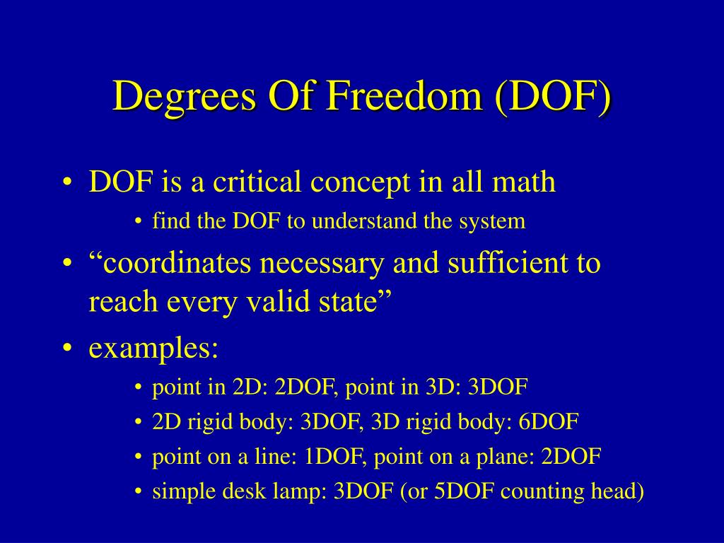Degrees Of Freedom (DOF)