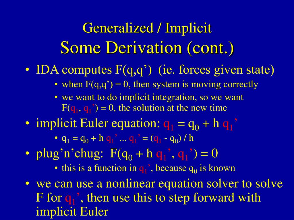 Generalized / Implicit