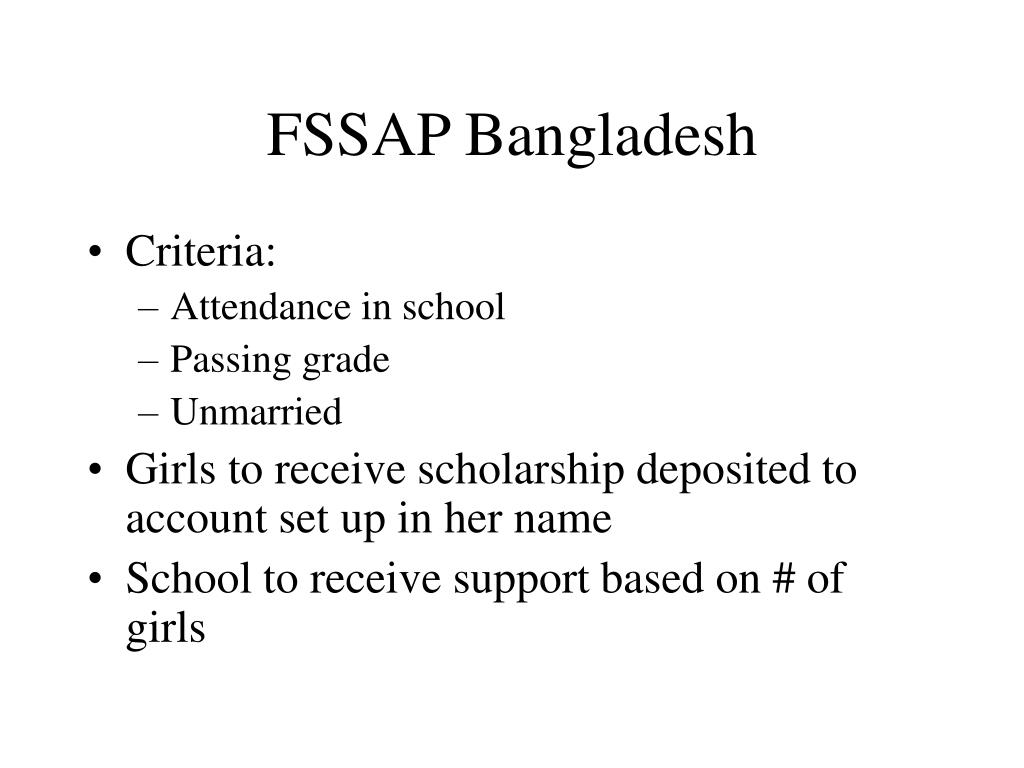 FSSAP Bangladesh