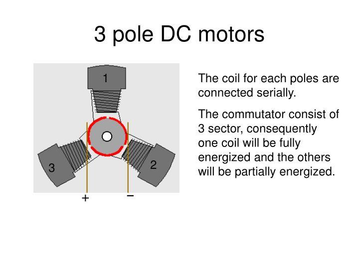 3 pole DC motors