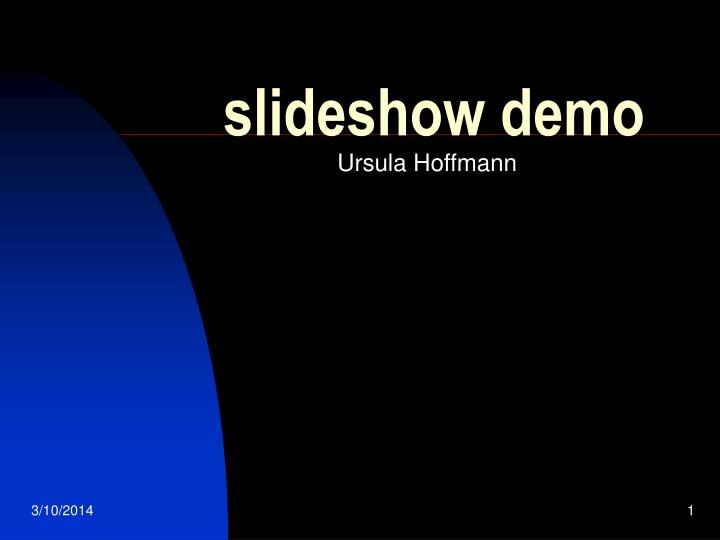Slideshow demo