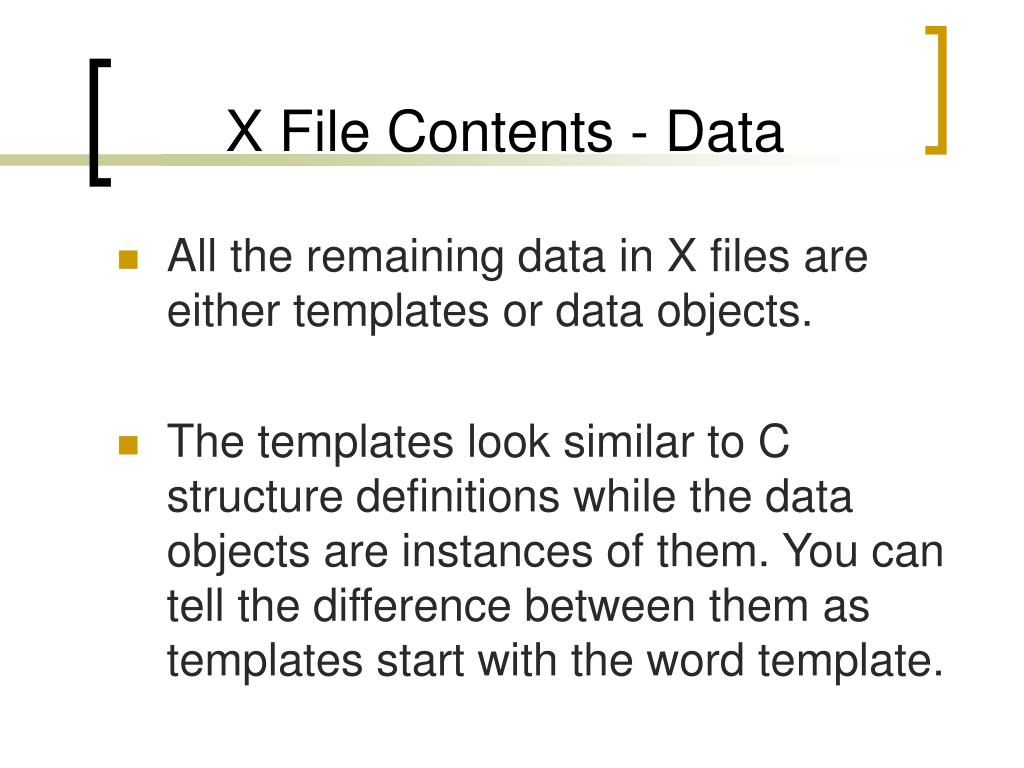 X File Contents - Data