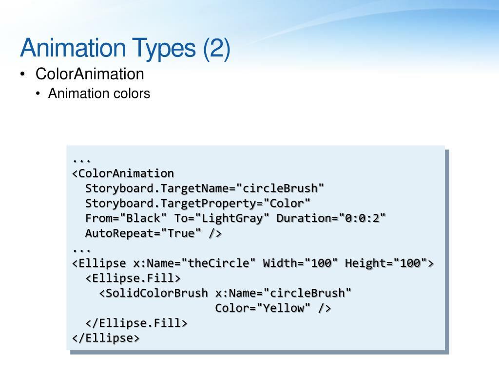 Animation Types (2)