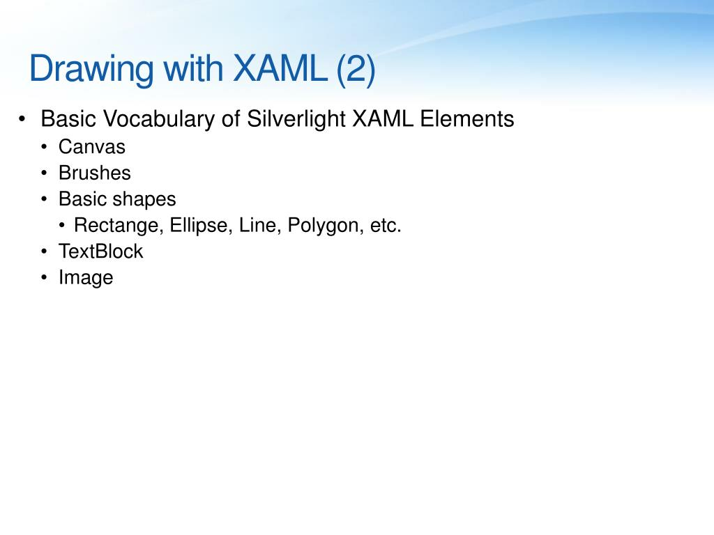 Drawing with XAML (2)