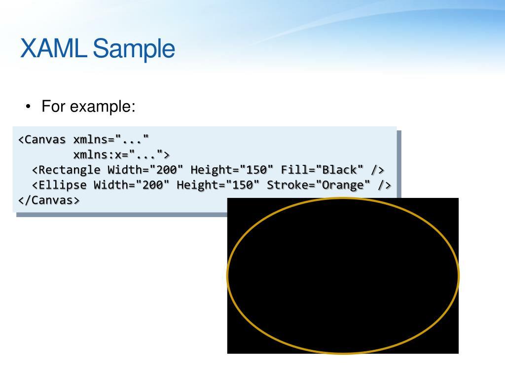XAML Sample