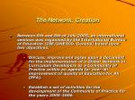 the network creation