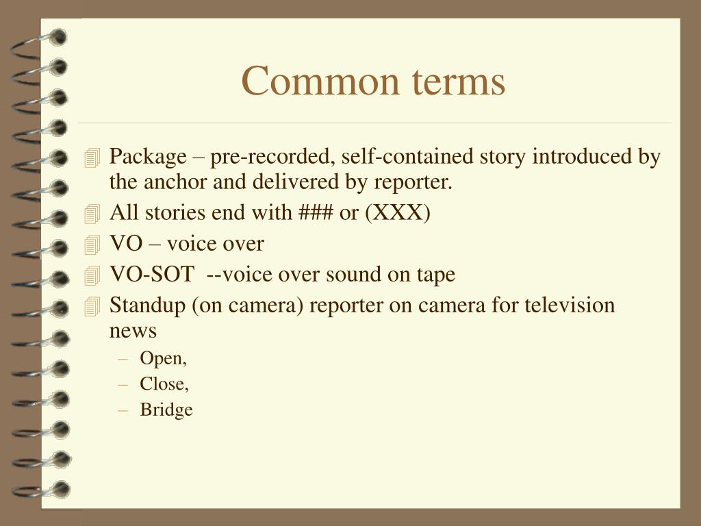 Common terms