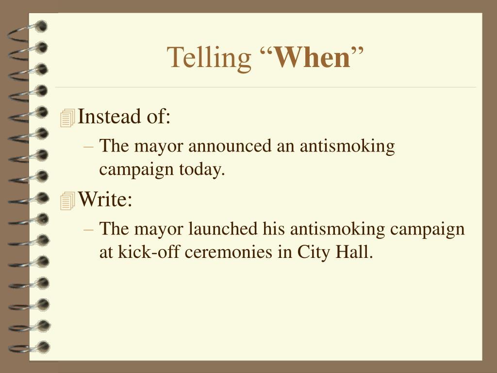"Telling """