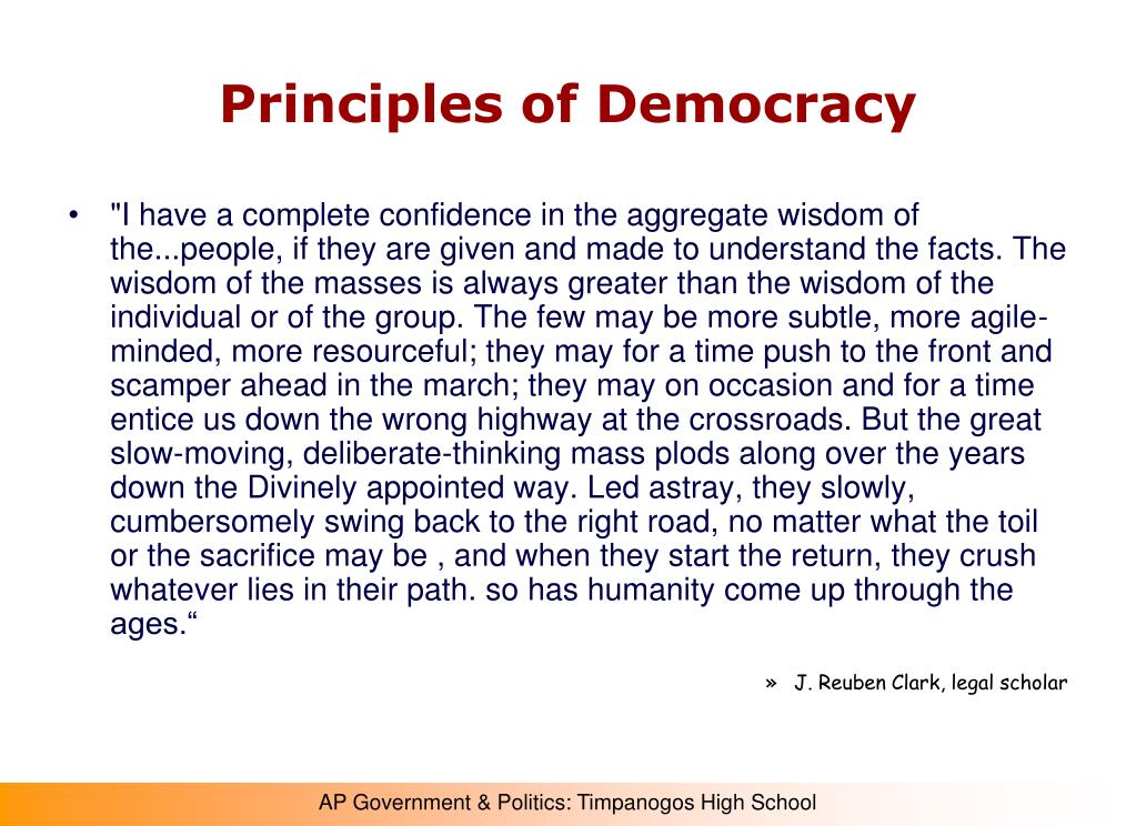 Principles of Democracy