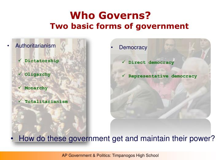 Who governs two basic forms of government