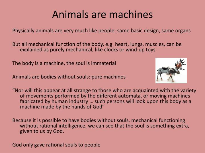 Animals are machines