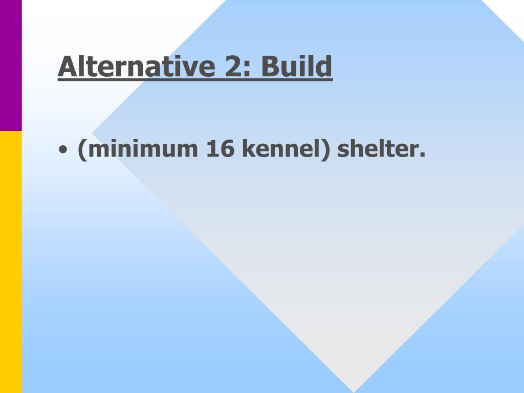 Alternative 2: Build
