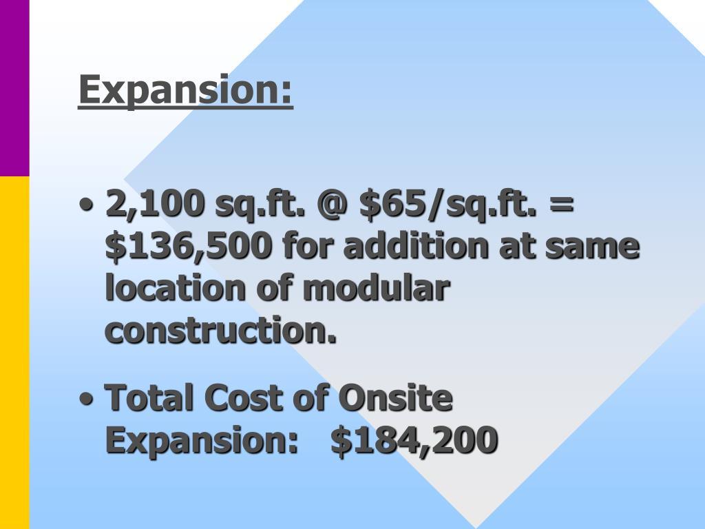 Expansion: