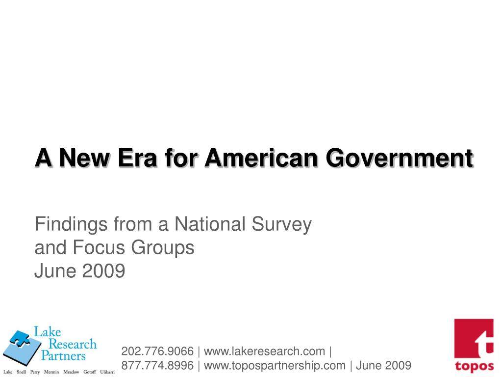 a new era for american government