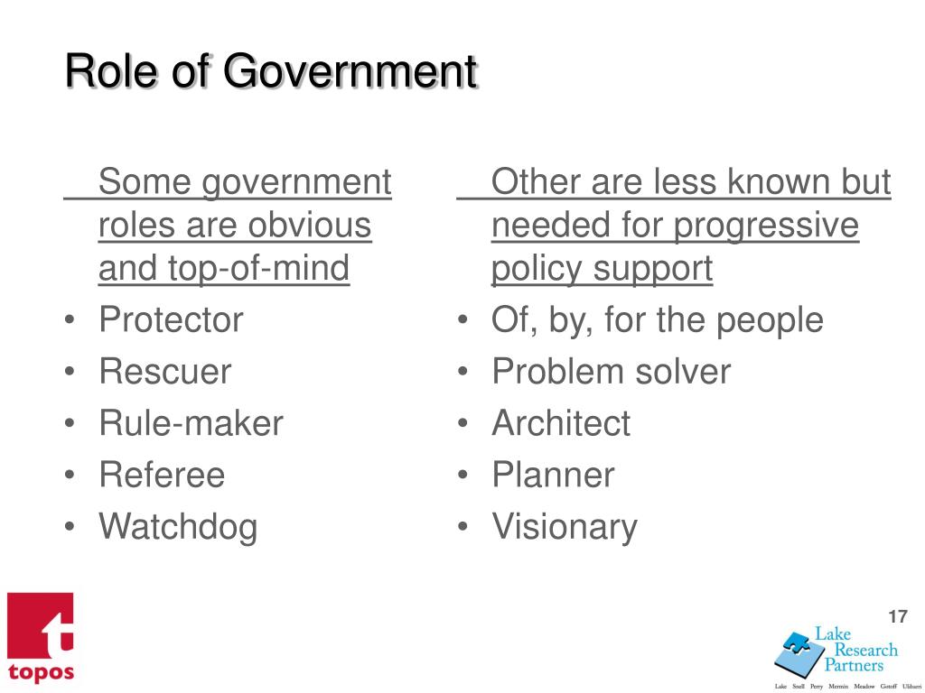 Some government roles are obvious and top-of-mind