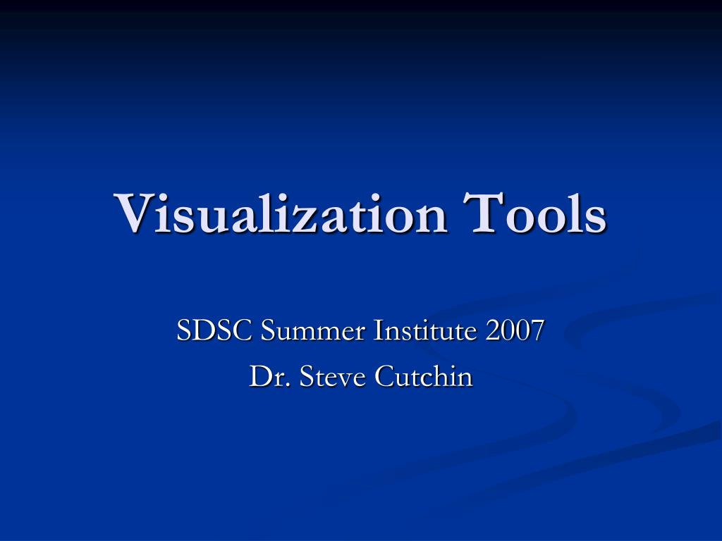 Visualization Tools