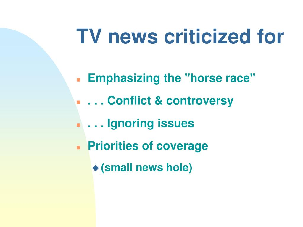 TV news criticized for