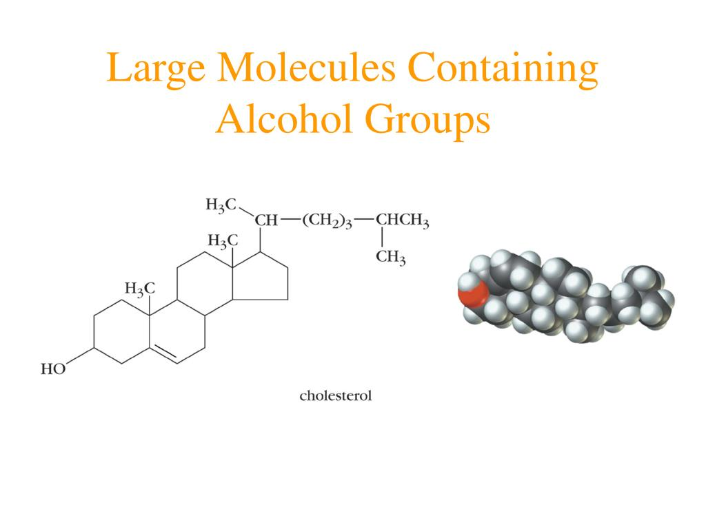 Large Molecules Containing Alcohol Groups