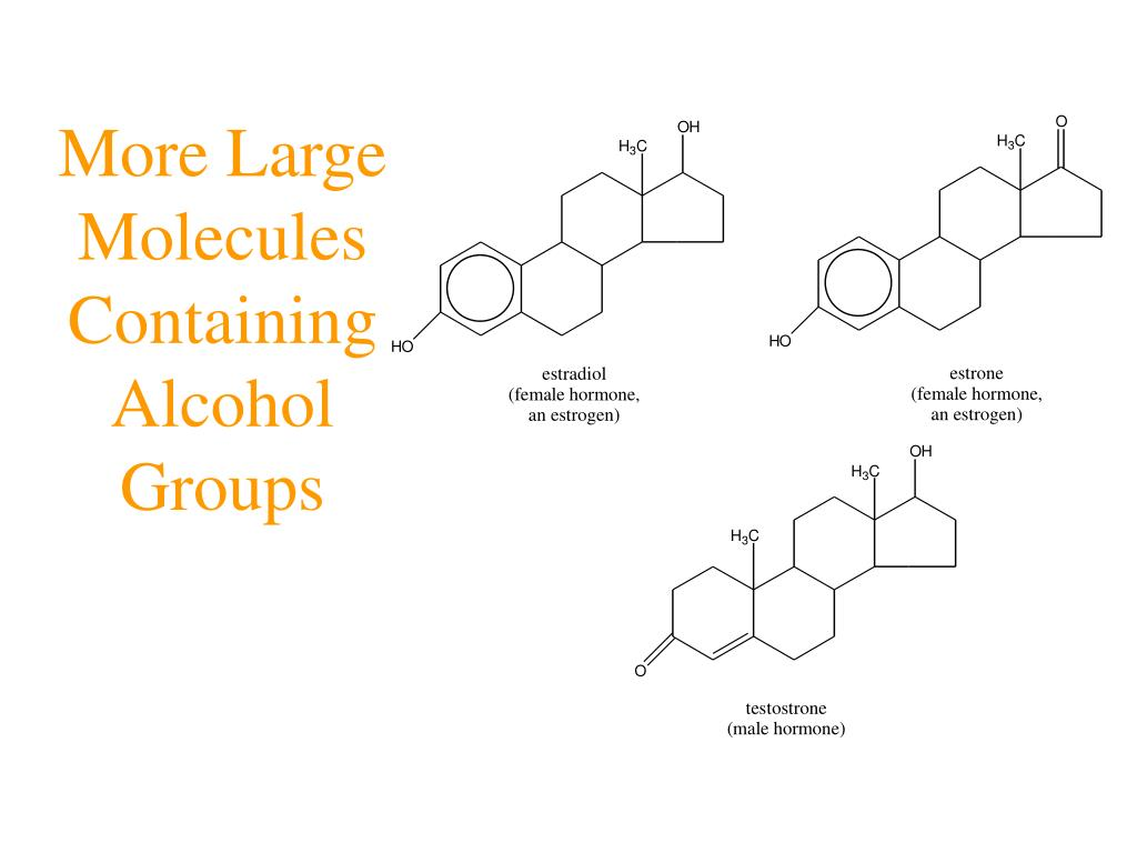 More Large Molecules Containing Alcohol Groups