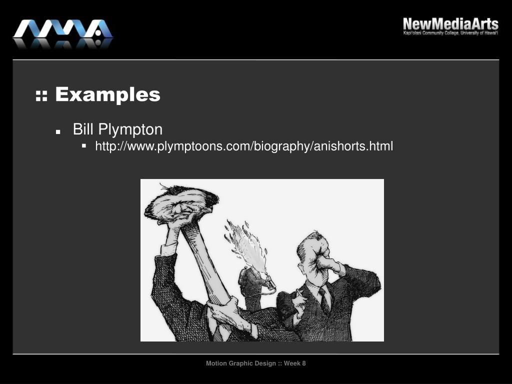 :: Examples