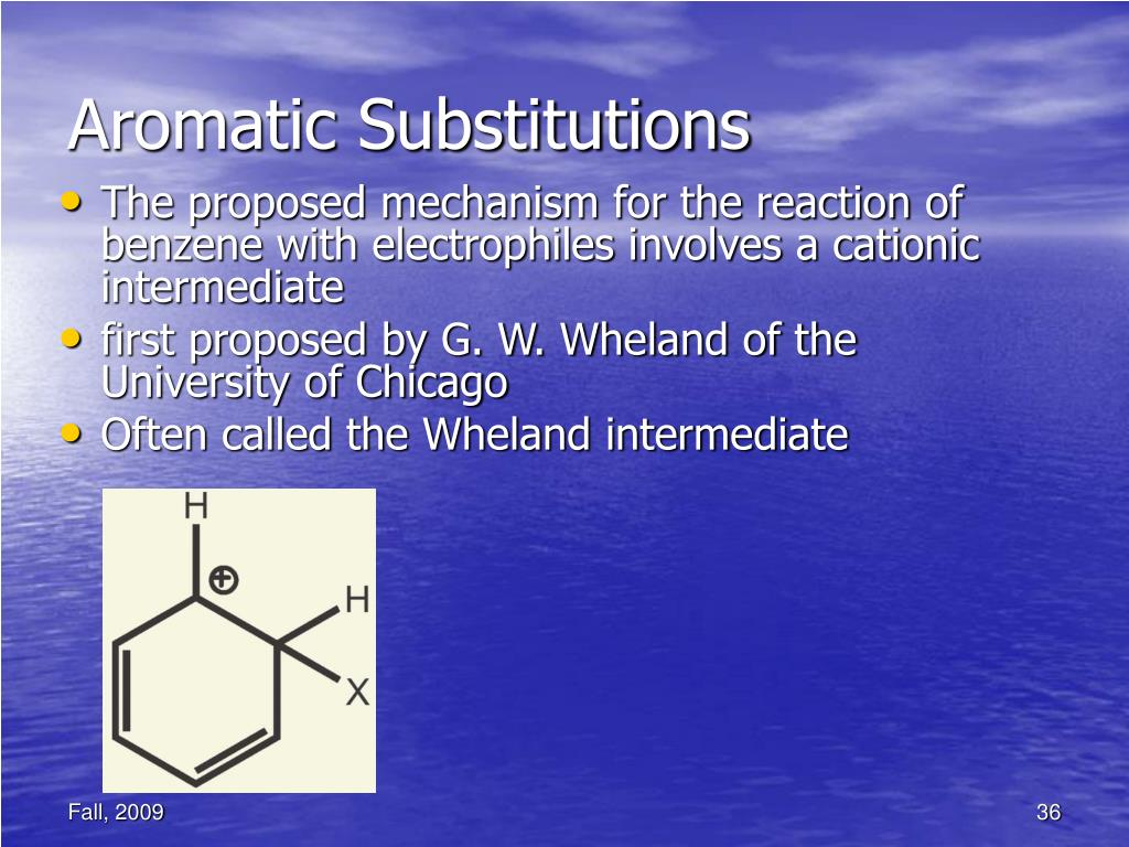 Aromatic Substitutions