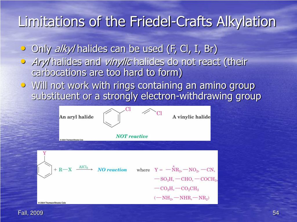 Limitations of the Friedel-Crafts Alkylation