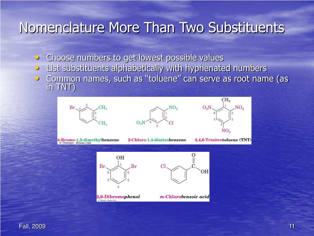 Nomenclature More Than Two Substituents