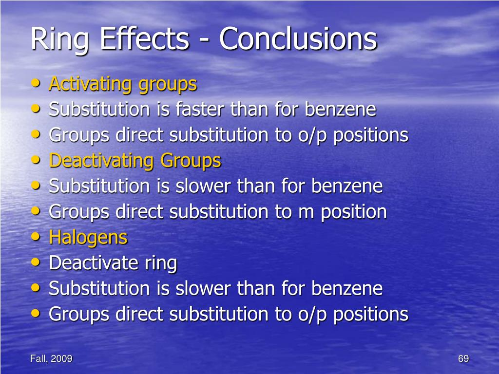 Ring Effects - Conclusions
