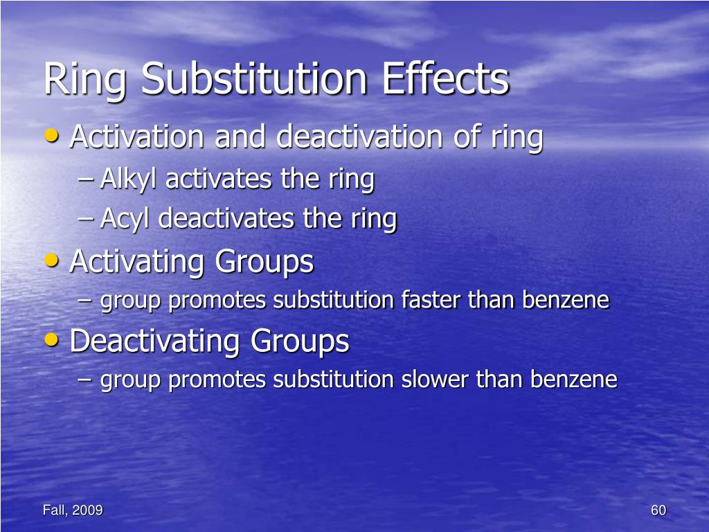 Ring Substitution Effects