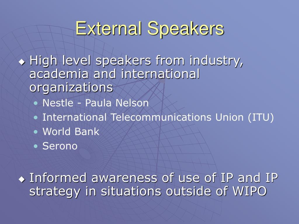 External Speakers