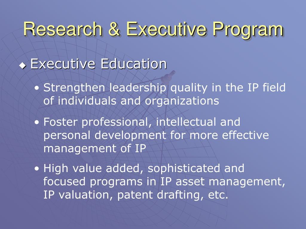 Research & Executive Program