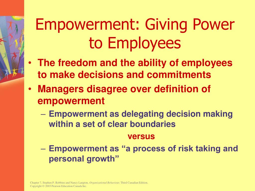 Empowerment: Giving Power to Employees