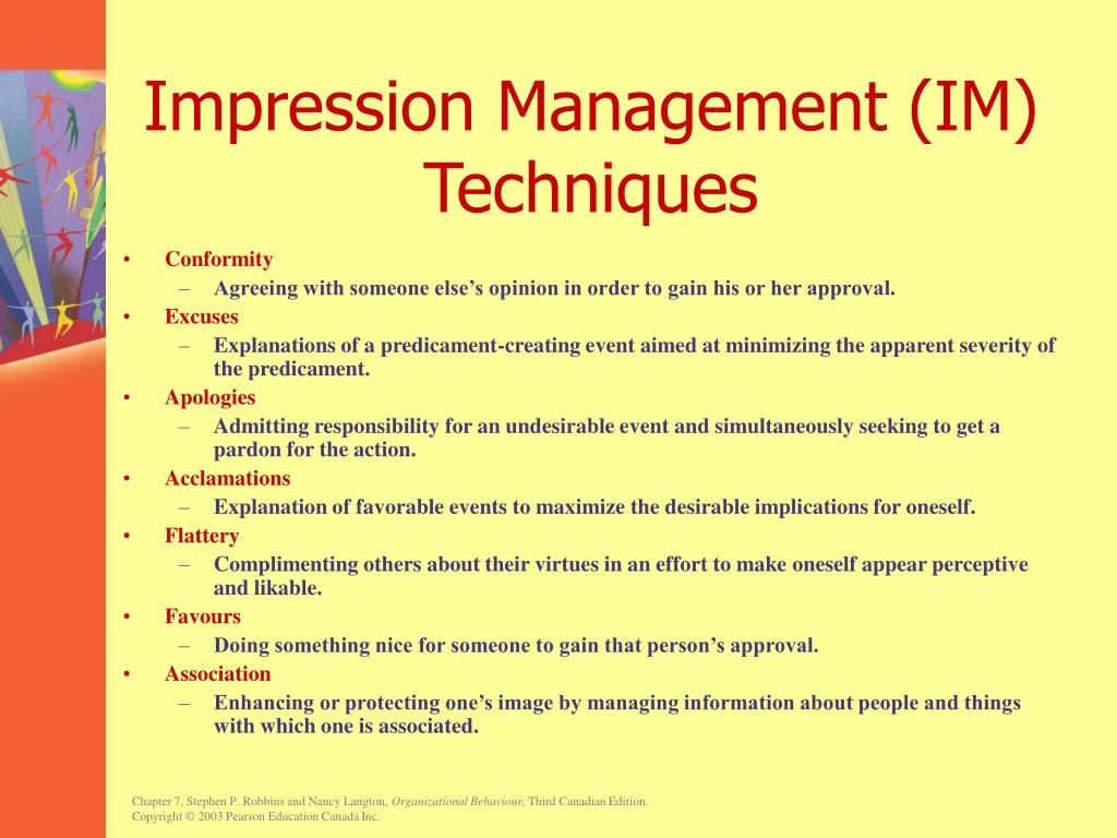 Impression Management (IM) Techniques