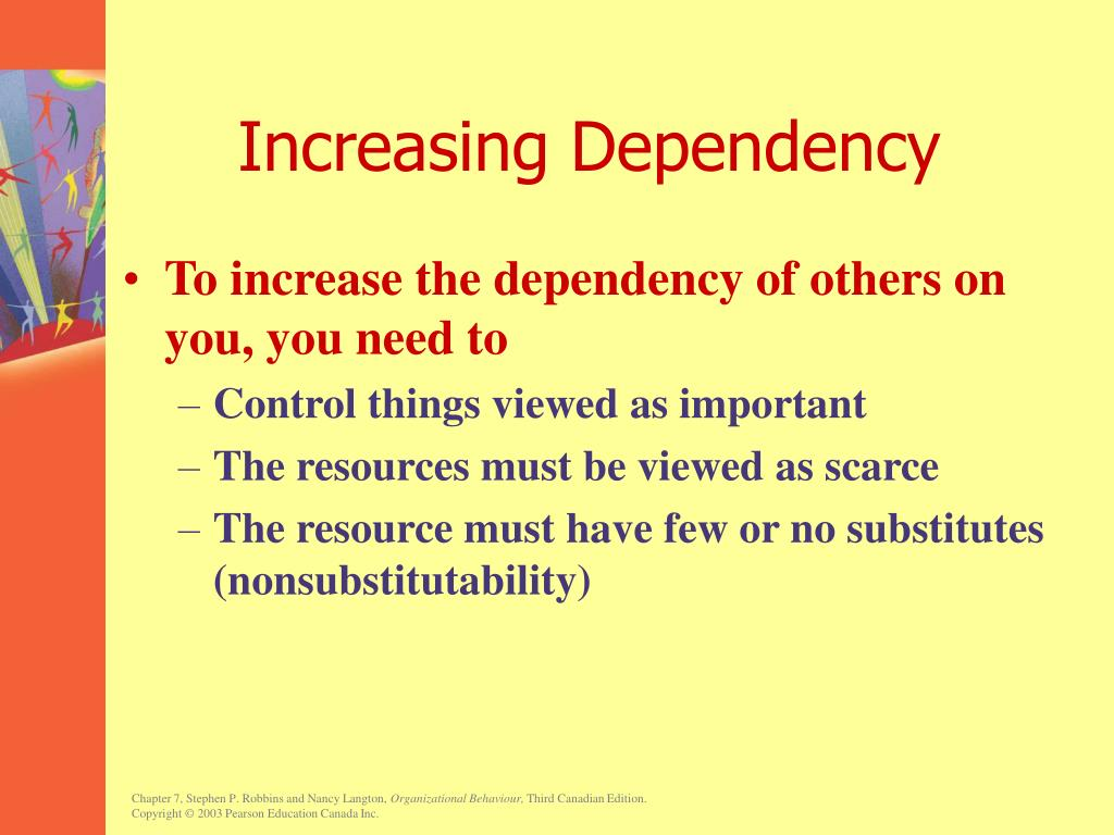 Increasing Dependency
