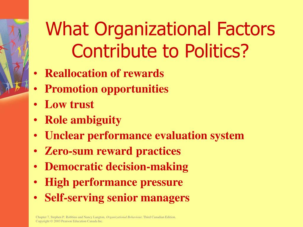 What Organizational Factors Contribute to Politics?