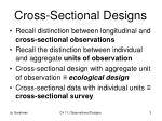 cross sectional designs
