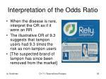 interpretation of the odds ratio
