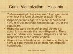 crime victimization hispanic