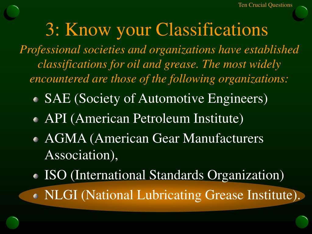 3: Know your Classifications