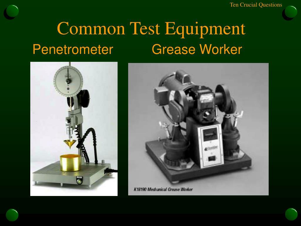 Common Test Equipment