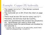 example copper ii hydroxide