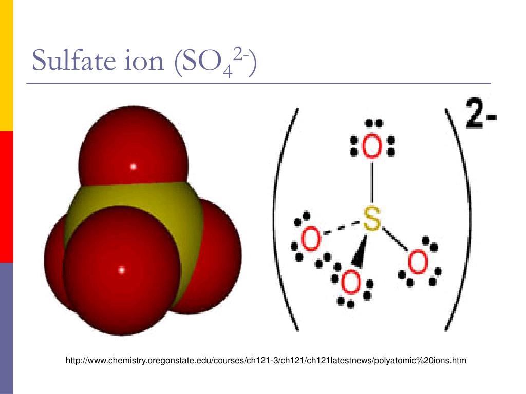 Sulfate ion (SO