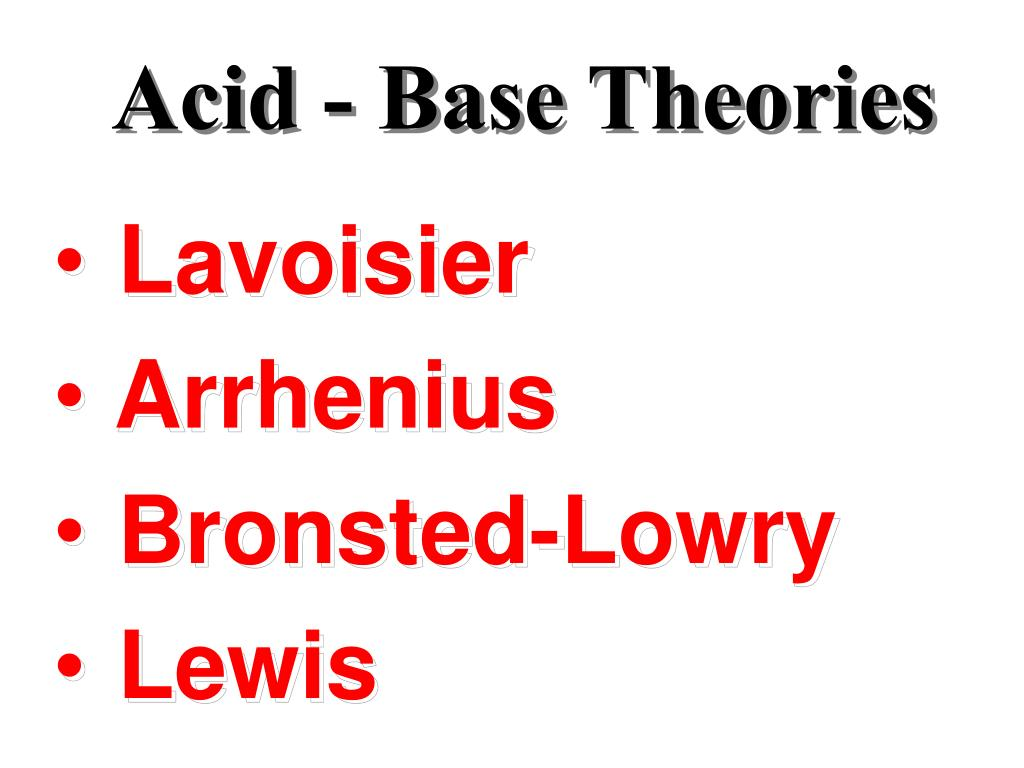 Acid - Base Theories