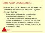 class action lawsuits cont