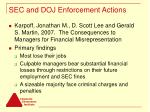 sec and doj enforcement actions