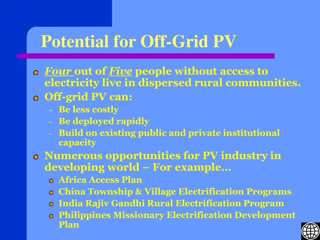 Potential for Off-Grid PV