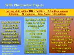 wbg photovoltaic projects