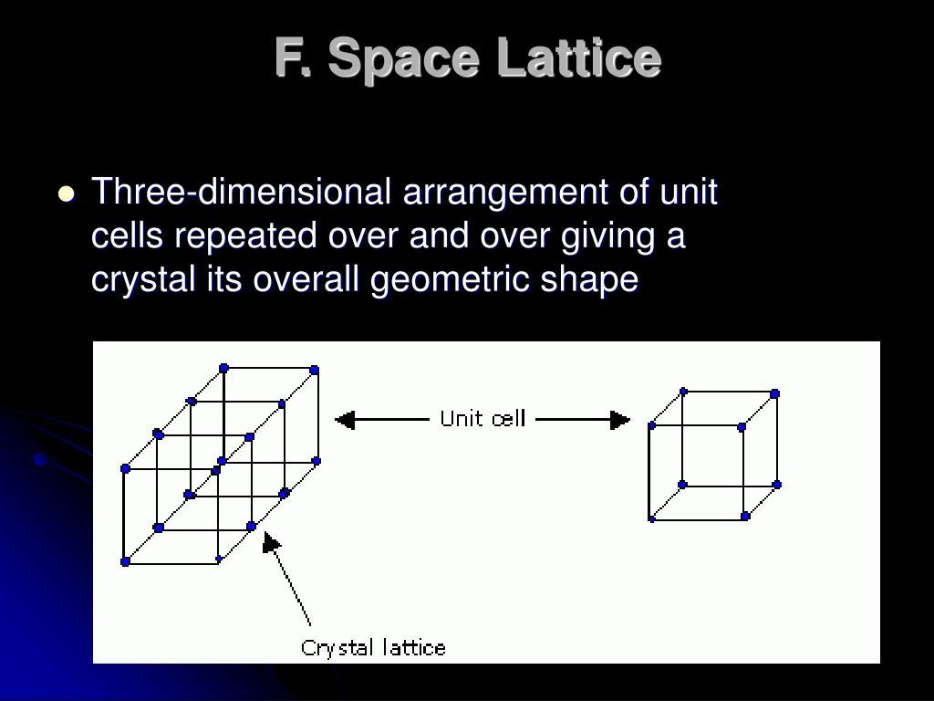 F. Space Lattice
