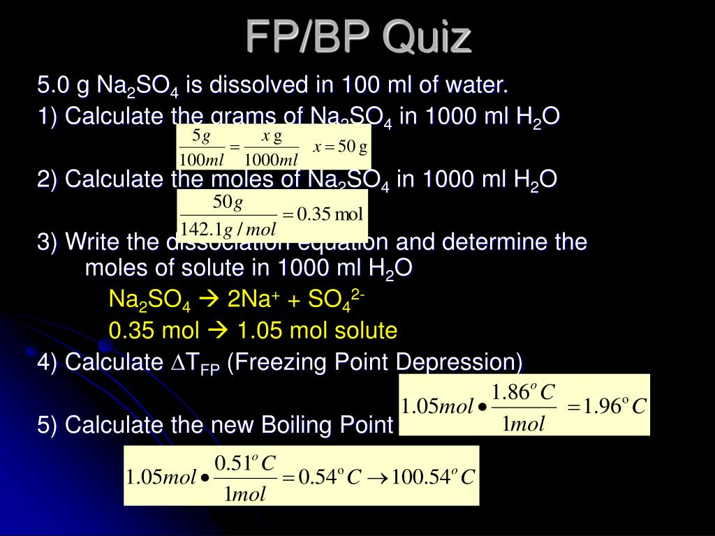 FP/BP Quiz
